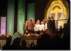tarbert choir wth hilary and neil