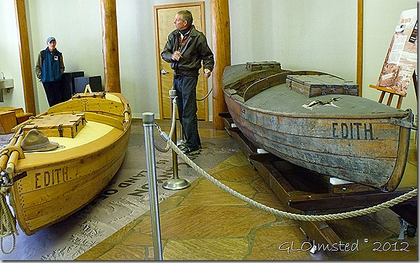 03 Brad Dimock with his replica & original Edith boats in Headquarters for the History Symposium SR GRCA NP AZ (1024x640)
