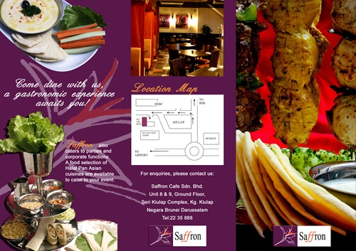 Restaurant Brochure Design Examples