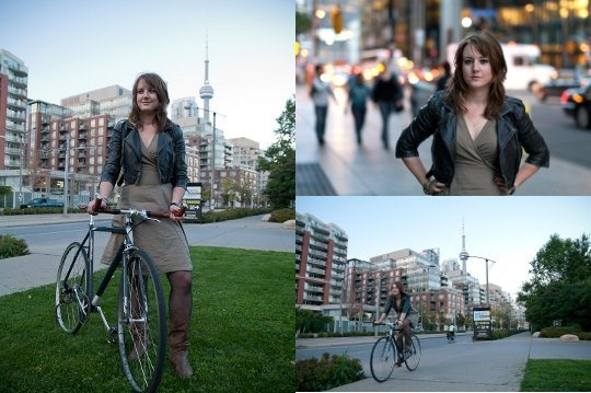 Toronto bicyclist - Megan Siegel