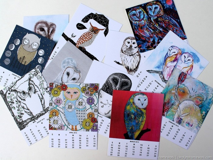 2015 Owl Lovers Calendar via homework (8)