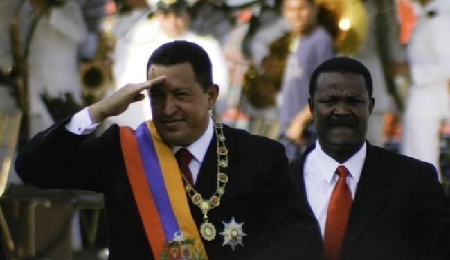 Chavez Salute in Maracaibo