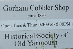 Cape Cod Yarmouthport old Cobbler shop sign