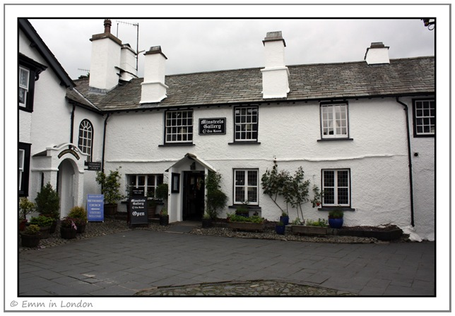 Minstrels Gallery Tea room Hawkshead