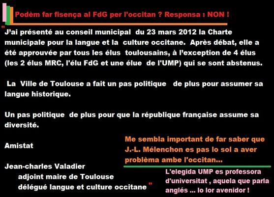informacion sobre l'occitan a Tolosa