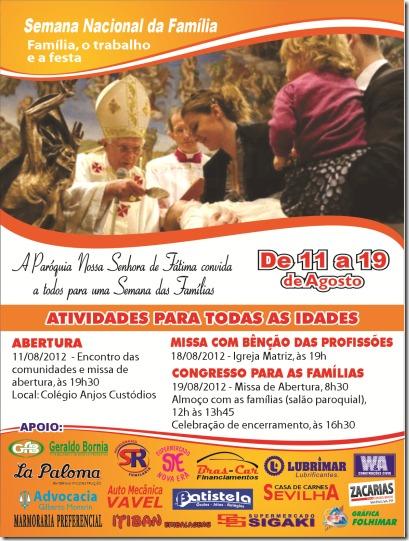 semana da familia 2012 - cartaz