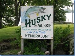 8314 Ontario Kenora Trans-Canada Highway 17 - Husky the Muskie
