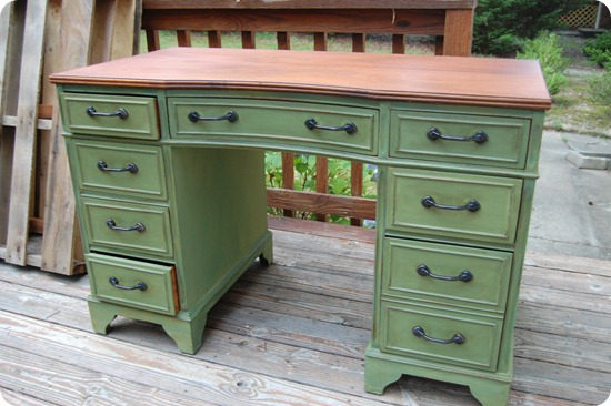milk paint desk