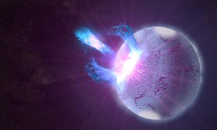 ruptura momentânea da crosta de um magnetar