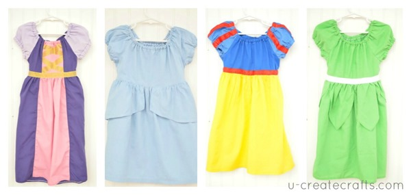 Disney Princess Peasant Dresses u-createcrafts.com