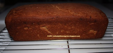 Cinnamon Dried Fruit Bread - out of oven - cooling on rack B
