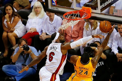 lebron james nba 140530 mia vs ind 24 game 6 Heat Eliminate Pacers, Advance to NBA Finals for 4th Straight Year