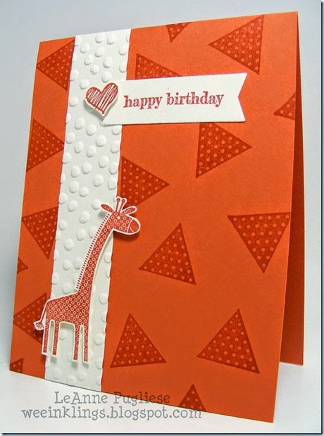 LeAnne Pugliese WeeInklings Zoo Babies Geometrical Stampin Up