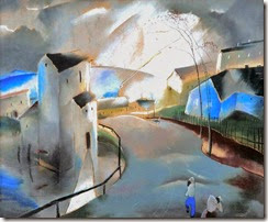 Endre Barzo (Hungarian artist, 1898-1953) Lightening 1930
