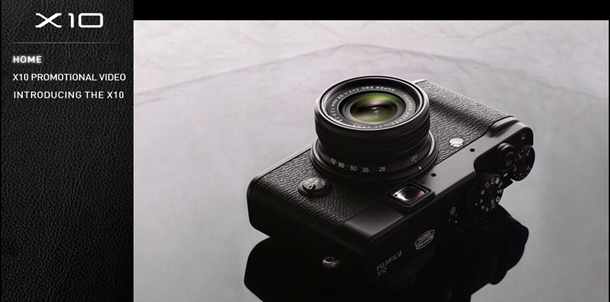 Fuji X10 Offical Site