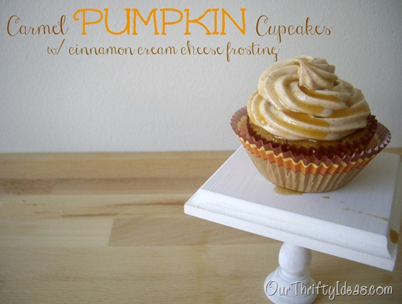 Carmel Pumpkin Cupcake with cinnamon cream cheese frosting