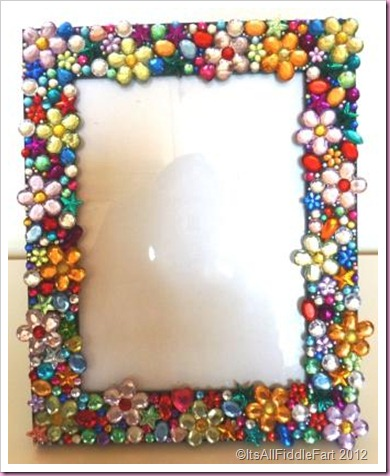 jewelled photo picture frame
