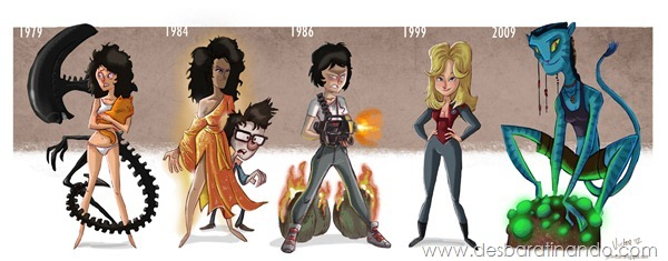 Jeff-Victor-The-Evolution-of-the-Famous-Actors-sigourney-weaver-evolution