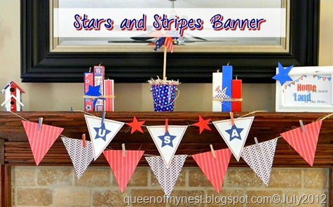 Stars and Stripes Banner Mantel Full View Main