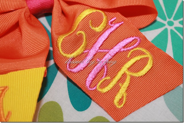 interlock monogram boutique bow kissed by a frog personalized