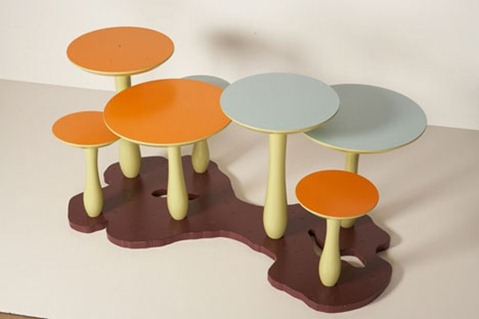 furniture-mushroom tables