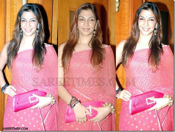 Bhavana_Pink_Designer_Saree