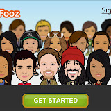 urFooz is a built in app that allows you to make an Avatar for yourself to use online
