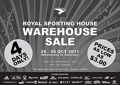 Royal Sporting House Warehouse sale puma adidas reebok nike new balance crocs vans lacoste roxy
