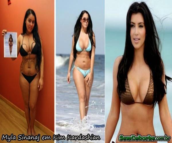 Myla Sinanaj em Kim Kardashian