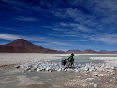 Stream crossing alongside Laguna Verde, Southwestern Bolivia.