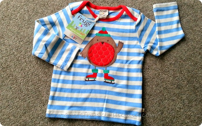Frugi robin christmas top