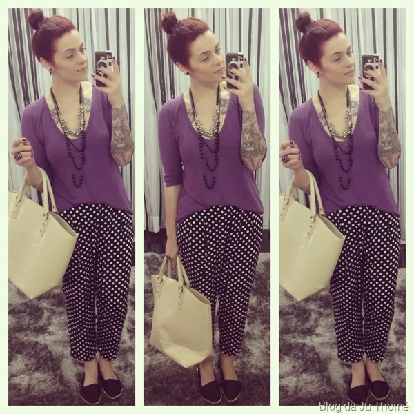 look tricô roxo e calça estampada (1)