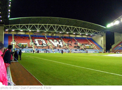 'DW Stadium North Stand warmup - Wigan Athletic v Aston Villa, 16 March 2010' photo (c) 2007, Dan Farrimond - license: http://creativecommons.org/licenses/by/2.0/