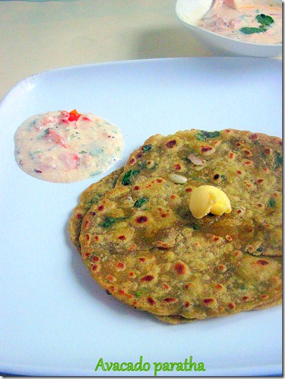 Avacado Paratha