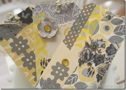 Scrappy Tags Yellow Gray