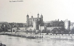 Vintage postcard tower of London