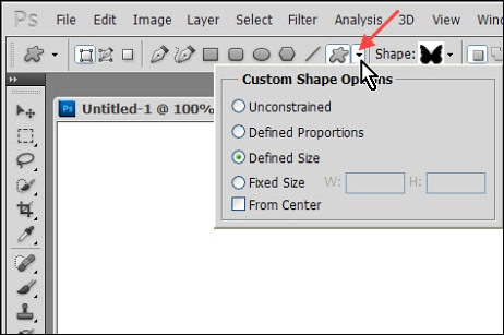 geometry options photoshop