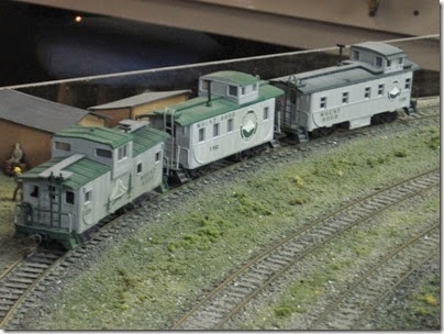 IMG_0359 Cabooses X228, 042 & 281 on the Mount Hood Model Engineers HO-Scale Layout in Portland, Oregon on March 8, 2008