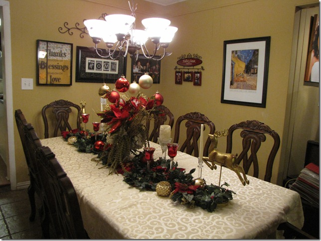 I Combined Some After Christmas Sale Items From Dillards Last Year With My Crystal And Gold Vase Got At An Estate This