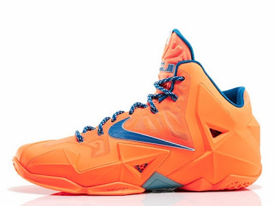 nike lebron 11 gr hardwood knicks 4 05 Release Reminder: LeBron 11 Atomic Orange Miami vs. Akron