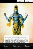Screenshot of Bhagavad Gita