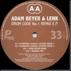 Adam Beyer & Lenk - Drum Code No.1 Remix E.P. $249