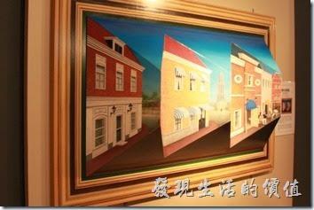 豪斯登堡-超級錯覺藝術。你看得出來這房子會隨著你的視線移動而跟著動,它其實是個三角形體的立體房子喔!