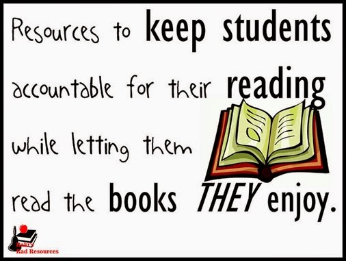 Resources to keep students reading books they enjoy while keeping them accountable for their learning.  Resources from Raki's Rad Resources.