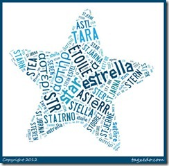Cognates for the Word Star