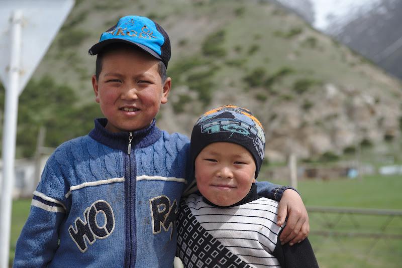 Prin satele kyrgyze.