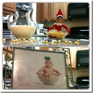Elf on the Shelf - Cereal Bowl Elf