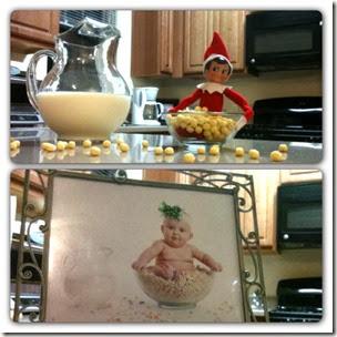 Elf on the Shelf - Cereal Bowl Elf