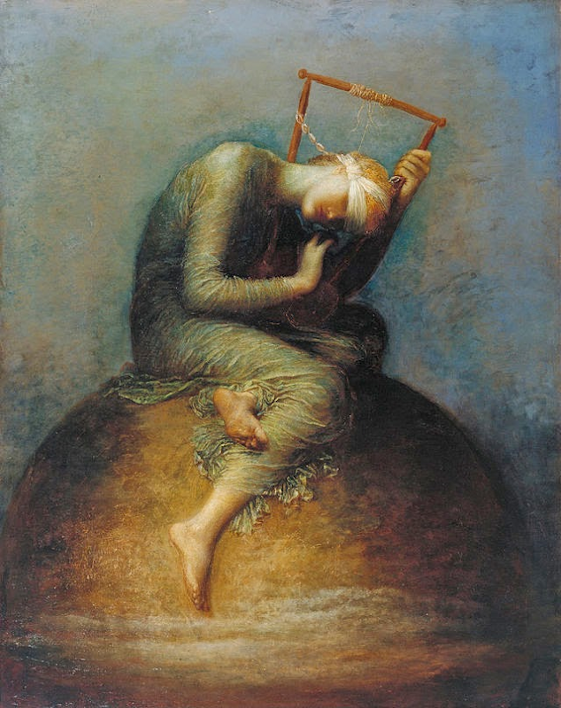 'Hope', painting by George Frederic Watts, 1886.