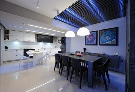 decoracion-comedor-tonos-grises-diseño-interior